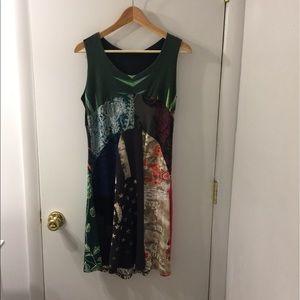 Desigual mixed print tank dress